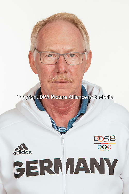 Jürgen Wagner poses at a photocall during the preparations for the Olympic Games in Rio at the Emmich Cambrai Barracks in Hanover, Germany, taken on 19/07/16 | usage worldwide