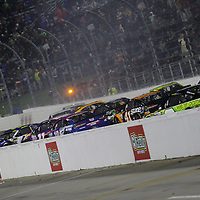 October 29, 2017 - Martinsville, Virginia, USA: The NASCAR Monster Energy series drivers wreck after the finish of the First Data 500 at Martinsville Speedway in Martinsville, Virginia.