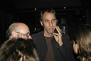 WILL SELF, The Bedroom Secrets of the Master Chefs by Irvine Welsh. the Play Room, 10 Air St. London. 3 August 2006. ONE TIME USE ONLY - DO NOT ARCHIVE  © Copyright Photograph by Dafydd Jones 66 Stockwell Park Rd. London SW9 0DA Tel 020 7733 0108 www.dafjones.com