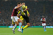 Danny Drinkwater & Etienne Capoue in a tussle for the ball during the Premier League match between Aston Villa and Watford at Villa Park, Birmingham, England on 21 January 2020. ball during the Premier League match between Aston Villa and Watford at Villa Park, Birmingham, England on 21 January 2020.