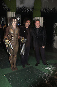 """SAM ARCHER, TIM BURTON AND MATTHEW BOURNE, World Premiere of the theatrical production of """"Edward Scissorhands"""" at Sadler's Wells Theatre in London. 30 November 2005. ONE TIME USE ONLY - DO NOT ARCHIVE  © Copyright Photograph by Dafydd Jones 66 Stockwell Park Rd. London SW9 0DA Tel 020 7733 0108 www.dafjones.com"""