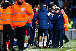 Bristol City Head Coach Lee Johnson and Queens Park Rangers manager Ian Holloway embrace after the game ends in a 1-1 draw - Rogan/JMP - 23/12/2017 - Loftus Road - London, England - Queens Park Rangers v Bristol City - Sky Bet Championship.