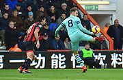 Aaron Ramsey (8) of Arsenal flicks the ball over his head during the Premier League match between Bournemouth and Arsenal at the Vitality Stadium, Bournemouth, England on 25 November 2018.