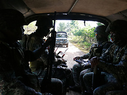April 13, 2018 - Sulu, Philippines - The Marines of Sulu doing counterterrorism measures to achieve peace and security in the conflict- torn area. (Credit Image: © Sherbien Dacalanio/Pacific Press via ZUMA Wire)