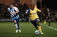 Lloyd Dyer (Leicester) is chased by Mark Yeates (Colchester). Colchester United Vs Leicester City. Coca Cola League 1. Weston Homes Community Stadium. Colchester. 30/09/2008. Credit Colorsport/Garry Bowden