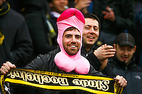 Supporters La Rochelle - 28.03.2015 - Begles Bordeaux / La Rochelle - 21eme journee de Top 14<br />Photo : Manuel Blondeau / Icon Sport