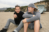 SEAN BROSNAN AND BRAWLEY NOLTE  AT WESTWARD BEACH MALIBU CALIFORNIA.8.12.08.PIX STEVE BUTLER EXCLUSIVE