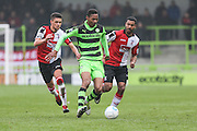 Forest Green Rovers Ethan Pinnock(16) breaks forward during the Vanarama National League match between Forest Green Rovers and Woking at the New Lawn, Forest Green, United Kingdom on 25 February 2017. Photo by Shane Healey.
