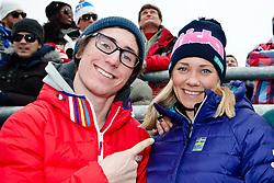 17.02.2013, Planai, Schladming, AUT, FIS Weltmeisterschaften Ski Alpin, Slalom, Herren, 2. Durchgang, im Bild Leon Hirscher und Frida Hansdotter (SWE) in action during 2nd run of the mens Slalom at the FIS Ski World Championships 2013 at the Planai Course, Schladming, Austria on 2013/02/17. EXPA Pictures © 2013, PhotoCredit: EXPA/ Markus Casna