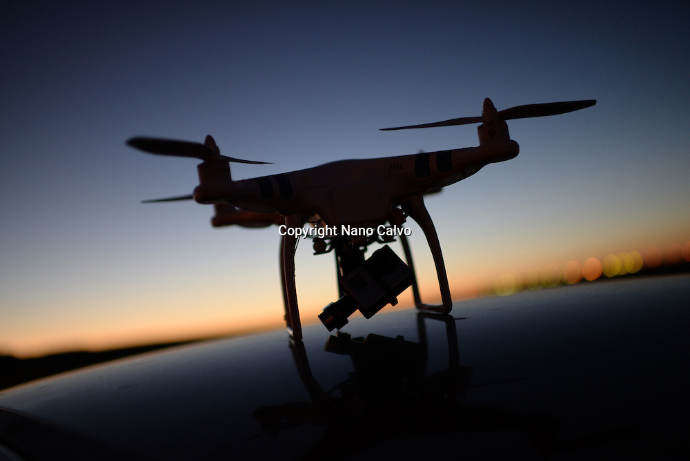 Phantom Drone outdoors, at sunset