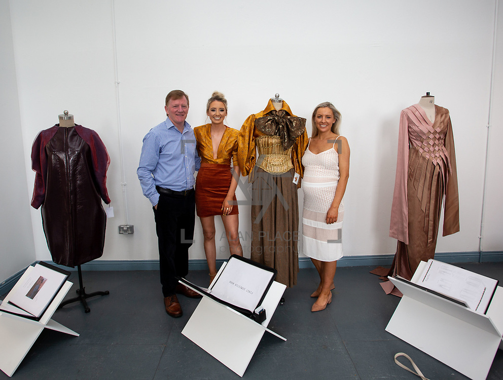03.06.2018.        <br /> An In-FLUX of visitors attended LSAD, Limerick School of Art and Design for one of Ireland&rsquo;s largest and most vibrant Graduate Shows.<br /> <br /> Fashion Design graduate, Niamh McNamara pictured with her dad Tony and sister Niamh at the opening of the Flux exhibition.<br /> <br /> More than 200 Fine Art and Design students&rsquo; work went on display from June 2 to June 10, 2018 at the LSAD Graduate Show - FLUX.<br /> LSAD has been central to Art, Craft and Design in the Limerick and Midwest region since 1852.<br />  <br /> The concept, branding and overall design of the 2018 LSAD Graduate Show - FLUX &ndash; is student led, and begins this Saturday June 2 and runs until June 10, 2018.<br />  <br /> FLUX encapsulates the movement and change from student to graduate. &ldquo;The &ldquo;X&rdquo; in &ldquo;FLUX&rdquo; represents the students and how they have made their mark in their time at college,&rdquo; explains designers Cathy Hogan and Will Harte as they outline the thinking behind the concept.<br />  <br /> FLUX describes the dynamic movement in the Limerick city region as it overcomes significant issues to become a fulcrum of rejuvenation, vibrant culture, strong industry growth and a centre of design.<br />  <br /> LSAD is also in a state of FLUX as it develops its enterprise potential and engagement with stakeholders across industry, public bodies, third level institutions and other partners overseeing a shift towards design, creativity and connectivity that goes far beyond the walls of its main campus on Clare Street. Picture: Alan Place
