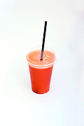 Carrot Juice on white background