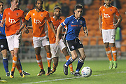 Ian Henderson shoots during the EFL Sky Bet League 1 match between Blackpool and Rochdale at Bloomfield Road, Blackpool, England on 26 September 2017. Photo by Daniel Youngs.