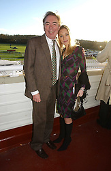 The HON.IMOGEN LLOYD WEBBER and her father LORD LLOYD-WEBBER at the 50th running of the Hennessy Gold Cup at Newbury Racecourse, Berkshire on 25th November 2006.<br />