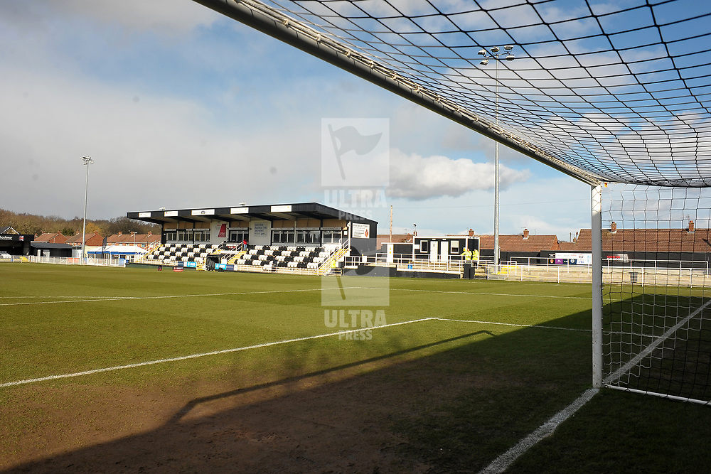 TELFORD COPYRIGHT MIKE SHERIDAN A general view of Brewery Field during the Vanarama Conference North fixture between Spennymoor Town and AFC Telford United at Brewery Field, Spennymoor on Saturday, February 29, 2020.<br /> <br /> Picture credit: Mike Sheridan/Ultrapress<br /> <br /> MS201920-048