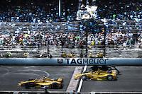 Ryan Hunter-Reay, Helio Castroneves, Indianapolis 500, Indianapolis Motor Speedway, Indianapolis, IN USA 5/25/2014