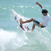 Ryan Briggs surfs Sunday July 13, 2014 during the 9th Annual O'Neil/Sweetwater Pro-Am Surf Fest at Wrightsville Beach, N.C. (Jason A. Frizzelle)
