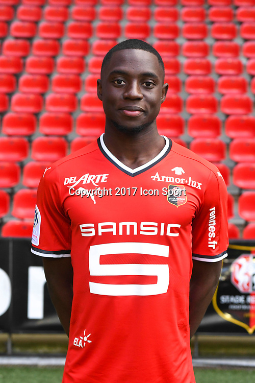 James Edward Lea Siliki during photoshooting of Stade Rennais for new season 2017/2018 on September 19, 2017 in Rennes, France. (Photo by Philippe Le Brech/Icon Sport)