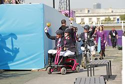 Trabert, Angelika;<br /> Baker, Natasha;<br /> Näpel, Britta, <br /> London Paralympics 2012<br /> Grade II Freestyle<br /> © www.sportfotos-lafrentz.de/ Stefan Lafrentz