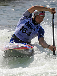 Dejan Stevanovic (SLO) of Men's C1 Canoe Single at Heats - 1st Run of ICF Kayak/Canoe Slalom Racing World Cup Tacen 2008, on June 28, 2008, Ljubljana, Slovenia. (Photo by Vid Ponikvar / Sportal Images)../ Sportida)