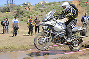 Chad Yoshitomi from Alaska on his BMW R1150GS during day 1 competition at 2010 Rawhyde Adventure Rider Challenge