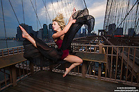 Brooklyn Bridge, New York City. Dance As Art- The New York Photography Project featuring Kylie Levine.