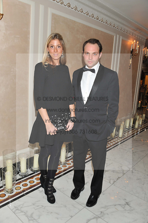 The HON.ED SACKVILLE and SOPHIA ACKROYD at the 22nd Cartier Racing Awards held at The Dorchester, Park Lane, London on 13th November 2012.