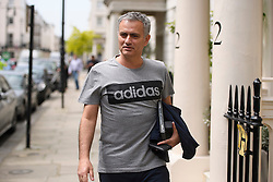 © Licensed to London News Pictures. 27/05/2016. London, UK.  JOSE MOURINHO returns to his home in west London on the day he was officially announced as the new manager of Manchester United Football Club. Photo credit: Ben Cawthra/LNP