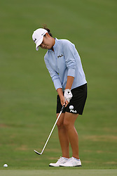 30 Aug 2005<br /> <br /> Hee-Won Han chips to the 1st green.<br /> <br /> State Farm Classic, LPGA Golf Tournament, Tuesday Practice, The Rail Golf Course, Springfield, IL