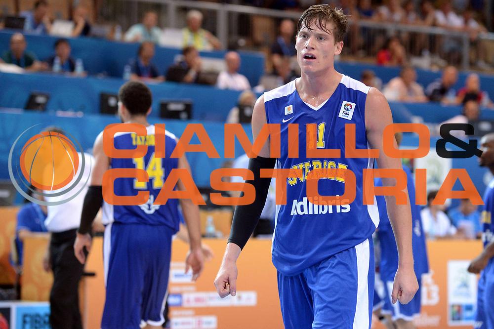 DESCRIZIONE : Capodistria Koper Slovenia Eurobasket Men 2013 Preliminary Round Svezia Finlandia Sweden Finland<br /> GIOCATORE : Jonas Jerebko<br /> CATEGORIA : Delusione<br /> SQUADRA : Svezia<br /> EVENTO : Eurobasket Men 2013<br /> GARA : Svezia Finlandia Sweden Finland<br /> DATA : 05/09/2013<br /> SPORT : Pallacanestro&nbsp;<br /> AUTORE : Agenzia Ciamillo-Castoria/Max.Ceretti<br /> Galleria : Eurobasket Men 2013 <br /> Fotonotizia : Capodistria Koper Slovenia Eurobasket Men 2013 Preliminary Round Svezia Finlandia Sweden Finland<br /> Predefinita :
