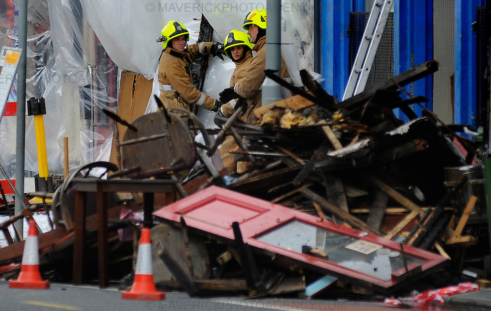 A fire that ripped through The Balmoral bar on Dalry Road has left one fire fighter dead and many residents have been evacuated.  The fire began on Saturday night and firemen were still at the scene early this morning.