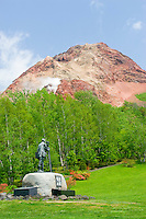 Mt Showa Shinzan is a still-smouldering volcano that first appeared just after the Second World War.