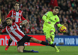 February 10, 2019 - Bilbao, Bilbao, Spain - Messi of Barcelona in action during La Liga Spanish championship, , football match between Athletic de Bilbao and Barcelona, February 10th, in Nuevo San Mames Stadium in Bilbao, Spain. (Credit Image: © AFP7 via ZUMA Wire)