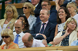 LONDON, ENGLAND - Monday, June 29, 2009: Editor of Private Eye Ian Hislop, during the Gentlemen's Singles 4th Round match on day seven of the Wimbledon Lawn Tennis Championships at the All England Lawn Tennis and Croquet Club. (Pic by David Rawcliffe/Propaganda)
