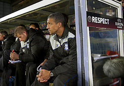 20.10.2011, Jan-Breydel Stadion, Bruegge, BEL, UEFA EL, Gruppe H, FC Bruegge (BEL) vs Birmingham City (ENG), im Bild Birmingham City's manager Chris Hughton on the bench against Club Brugge during the UEFA Europa League Group H match at the Jan Breydelstadion // during UEFA Europa League group H match between FC Bruegge (BEL) vs Birmingham City (ENG), at Jan-Breydel Stadium, Brugge, Belgium on 20/10/2011. EXPA Pictures © 2011, PhotoCredit: EXPA/ Propaganda Photo/ David Rawcliff +++++ ATTENTION - OUT OF ENGLAND/GBR+++++