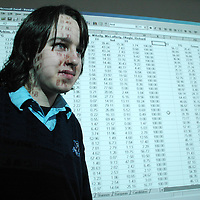 20/12/2005<br />Lisdoonvarna Community School student Mark Sims, working on his Young Scientist of The Year Project, Patterns in Population compared to Census information in Clare/Loais.<br />Picture. Cathal Noonan/Press22.