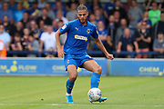 AFC Wimbledon defender Nesta Guinness-Walker (18) passing the ball during the EFL Sky Bet League 1 match between AFC Wimbledon and Wycombe Wanderers at the Cherry Red Records Stadium, Kingston, England on 31 August 2019.