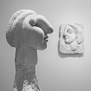 """Bust of a Woman"" and ""Head of a Woman"" by Pablo Picasso from the Boisgeloup Sculpture Studio; Picasso Sculpture exhibit at MoMA."