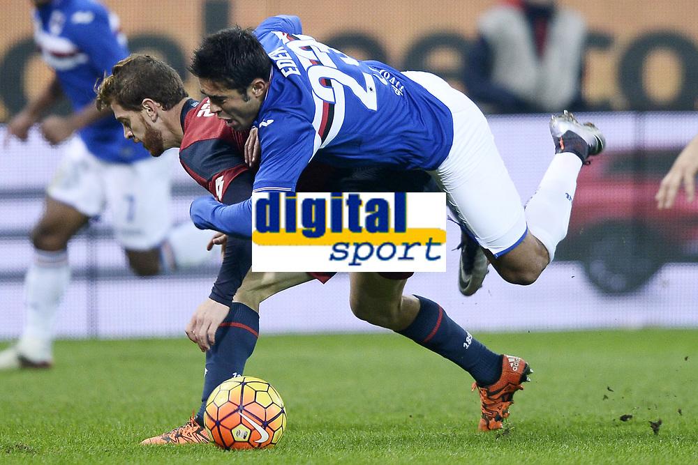 Cristian Ansaldi Genoa, Martin Eder Sampdoria <br /> Genova 05-01-2016 Stadio Marassi. Football Calcio Serie A 2015/2016 Genoa - Sampdoria / foto Image Sport/Insidefoto