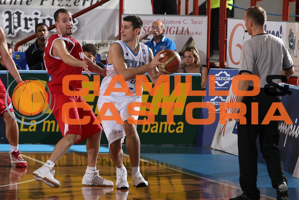 DESCRIZIONE : Porto San Giorgio Qualificazione Eurobasket 2009 Italia Ungheria<br /> GIOCATORE : Daniele Cinciarini<br /> SQUADRA : Nazionale Italia Uomini <br /> EVENTO : Raduno Collegiale Nazionale Maschile <br /> GARA : Italia Ungheria Italy Hungary<br /> DATA : 10/09/2008 <br /> CATEGORIA : <br /> SPORT : Pallacanestro <br /> AUTORE : Agenzia Ciamillo-Castoria/G.Ciamillo