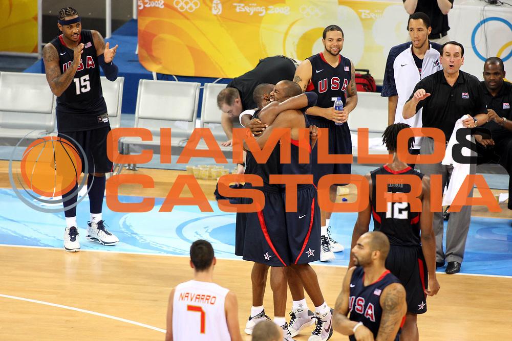 DESCRIZIONE : Beijing Pechino Olympic Games Olimpiadi 2008 Final Gold Medal 1-2 posto place Spain Usa<br />GIOCATORE : Kobe Bryant Michael Redd<br />SQUADRA : Usa<br />EVENTO : Olympic Games Olimpiadi 2008<br />GARA : Spagna Usa<br />DATA : 24/08/2008 <br />CATEGORIA : Esultanza<br />SPORT : Pallacanestro <br />AUTORE : Agenzia Ciamillo-Castoria/G.Ciamillo<br />Galleria : Beijing Pechino Olympic Games Olimpiadi 2008 <br />Fotonotizia : Beijing Pechino Olympic Games Olimpiadi 2008 Final Gold Medal 1-2 posto place Spain Usa<br />Predefinita :