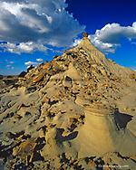 Badlands formations at Dinosaur Provincial Park in Alberta Canada