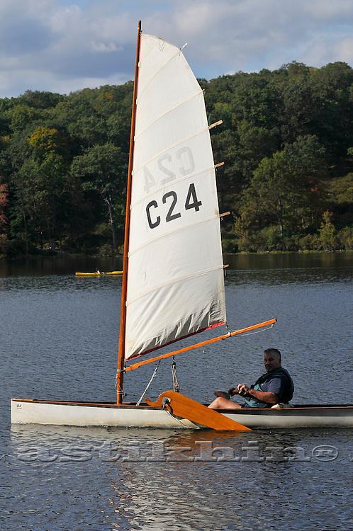 The winer of Canoe Sailing at Lake Sebago