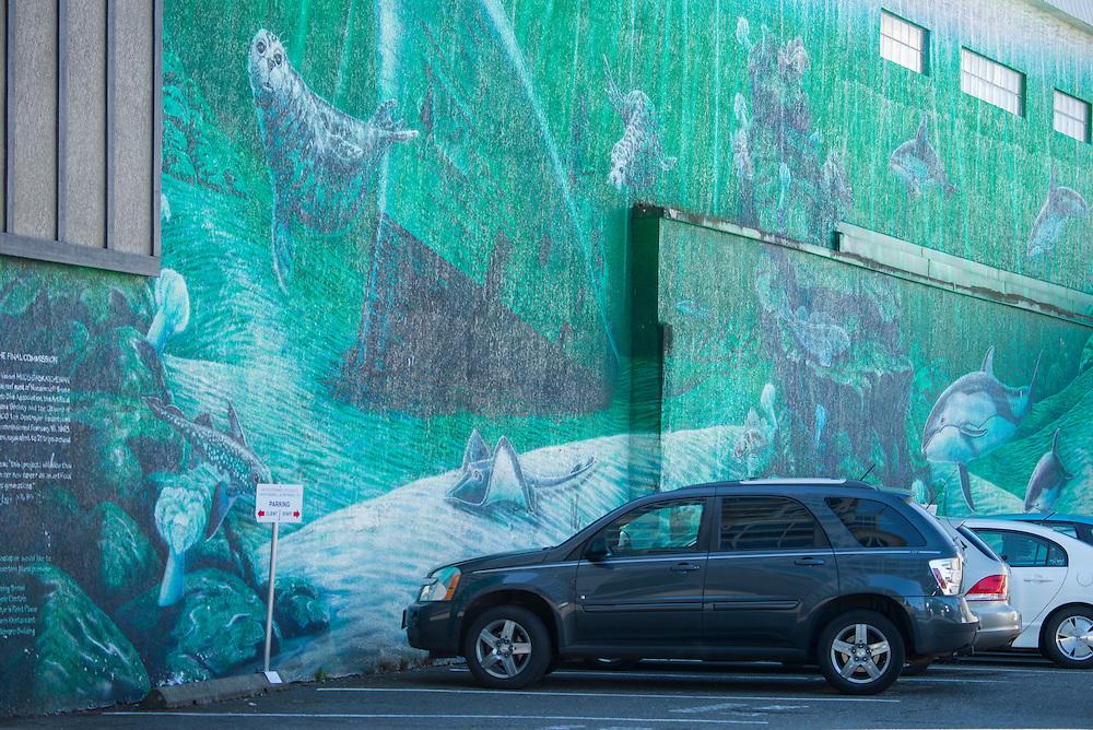 Canada, British Columbia, Vancouver Island,Nanaimo, mural