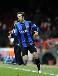 Barnsley's James O'Brien - Photo mandatory by-line: Joe Meredith/JMP - Tel: Mobile: 07966 386802 23/02/2013 - SPORT - FOOTBALL - Ashton Gate - Bristol -  Bristol City V Barnsley - Npower Championship