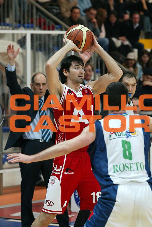 DESCRIZIONE : Milano Lega A1 2005-06 Roseto Basket Armani Jeans Milano <br /> GIOCATORE : Gigena <br /> SQUADRA : Armani Jeans Milano <br /> EVENTO : Campionato Lega A1 2005-2006 <br /> GARA : Roseto Basket Armani Jeans Milano <br /> DATA : 26/02/2006 <br /> CATEGORIA : Passaggio <br /> SPORT : Pallacanestro <br /> AUTORE : Agenzia Ciamillo-Castoria/G.Ciamillo <br /> Galleria : Lega Basket A1 2005-2006 <br /> Fotonotizia : Roseto Campionato Italiano Lega A1 2005-2006 Roseto Basket Armani Jeans Milano <br /> Predefinita :