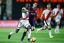 November 3, 2018 - Madrid, MADRID, SPAIN - Imbula of Rayo and Rakitic of FC Barcelona during the Spanish Championship, La Liga, football match between Rayo Vallecano and FC Barcelona on November 03th, 2018 at Estadio de Vallecas in Madrid, Spain. (Credit Image: © AFP7 via ZUMA Wire)