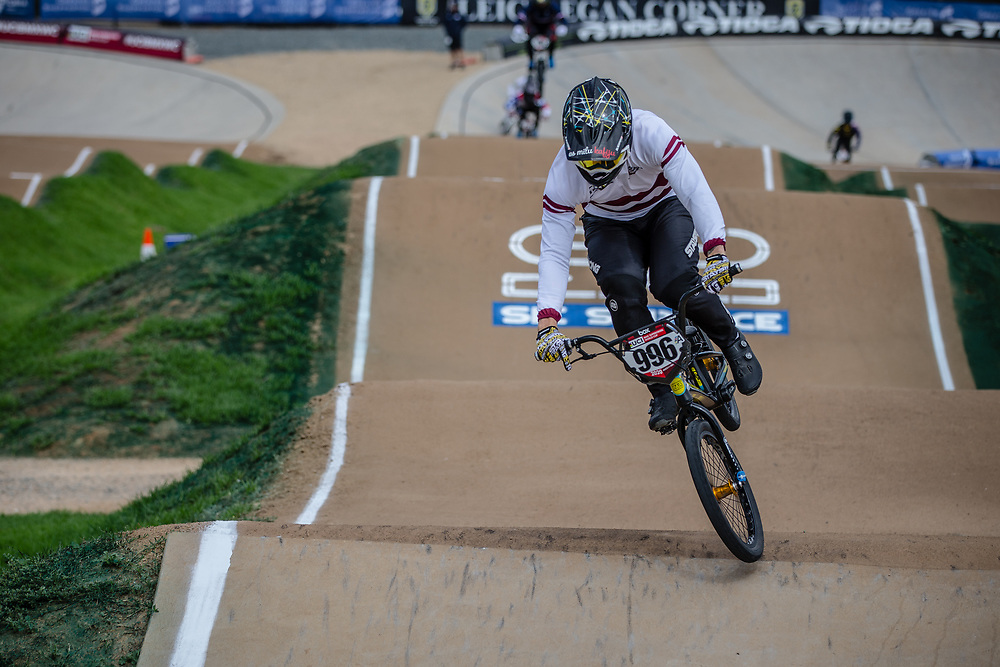 #996 (KRIGERS Kristens) LAT at Round 2 of the 2020 UCI BMX Supercross World Cup in Shepparton, Australia.