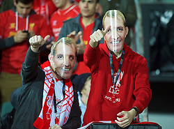 ADELAIDE, AUSTRALIA - Monday, July 20, 2015: Two Liverpool supporters wearing Brendan Rodgers face masks during a preseason friendly match against Adelaide United at the Adelaide Oval on day eight of the club's preseason tour. (Pic by David Rawcliffe/Propaganda)