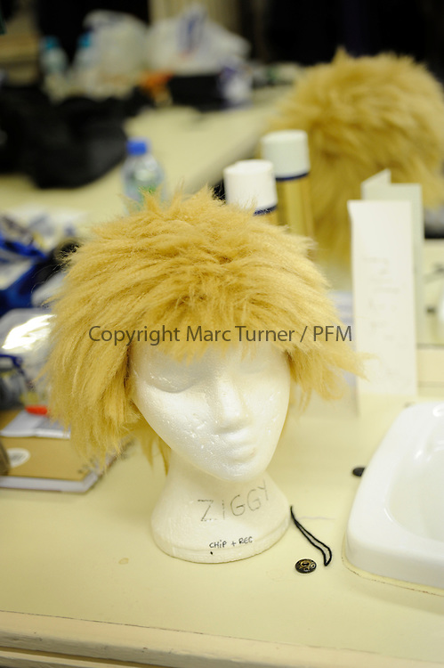 Snow White at The Kings - Photo Essay<br /> Dressing Rooms.<br /> <br /> &quot;Ziggy&quot; Muddles wig, named with reference to Gerard Kelly and Gavin Mitchell's love of David Bowie.